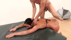 natural tits anal casting